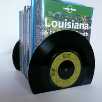 Record Bookends Eco friendly Recycled  Vinyl Record 7inch Single