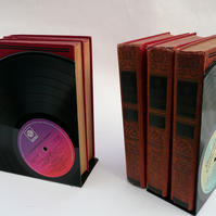 Record Bookends Vintage Vinyl Records 12 inch