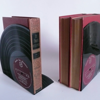 Record Bookends Made From 12 Vinyl Records