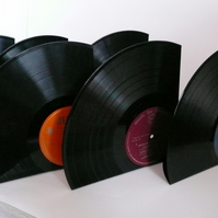 "Record Bookends Made From 12"" Vinyl Records LPs Albums 60s 70s 80s"