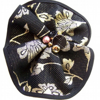 Black & Gold Corsage Brooch