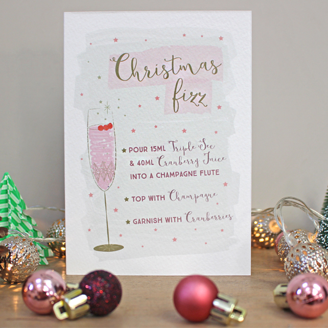 C10 - Champagne Cocktail Christmas Card