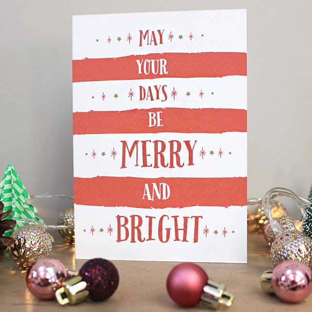 C2 - Striped Christmas Card