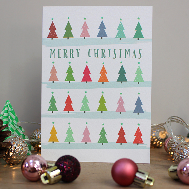 C1 - Tree Pattern Christmas Card