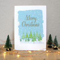 C8 - Christmas Forest Card