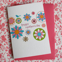 Mother's Day Card - Mother's Day Floral Circles
