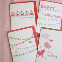 Pack of 4 Birthday Cards (codeB9)