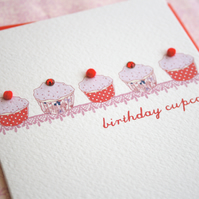 Cupcakes Birthday Card (codeB5)
