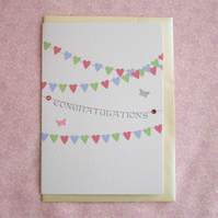 Bunting Congratulations Card (codeCN)