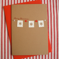 Snowflake Bunting Christmas Card (codeC13)