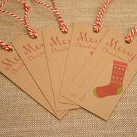 T2 - Pack of 5 Christmas Stocking Gift Tags