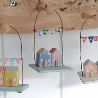 Little cottages with bunting