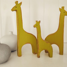 Wooden Giraffe Set