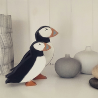 small Wooden Puffin