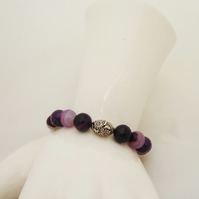 Agate Bracelet, Purple Agate Bracelet, Gemstone Bracelet, Bracelet in Purple