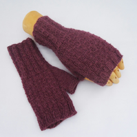 Arm Warmer, Alpaca Fingerless Mittens, Alpaca Gloves, Handknitted Mittens
