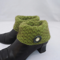 Boot Cuffs, Boot Toppers, Knit Boot Cuffs, Boot Cuffs in Green
