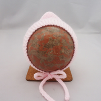 Bonnet for Baby, Bonnet in Pink, Pixie Baby Hat