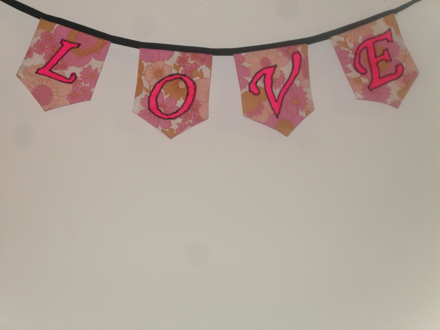 Valentines love  bunting