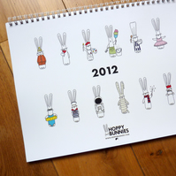 2012 Hoppy Bunnies Calendar