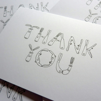 Thank You - pack of 5 cards