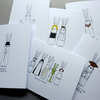 Film Bunnies - Pack of 6 cards