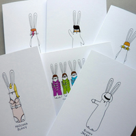 Music Bunnies - Pack of 6 cards