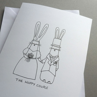 The Hoppy Couple wedding card