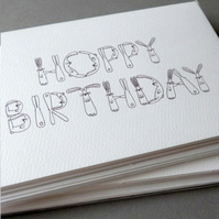 Hoppy Birthday - pack of 5 cards