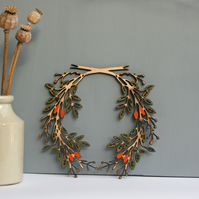 Large wooden wreath - design 2