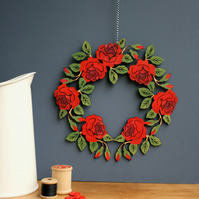Wooden Rose wreath