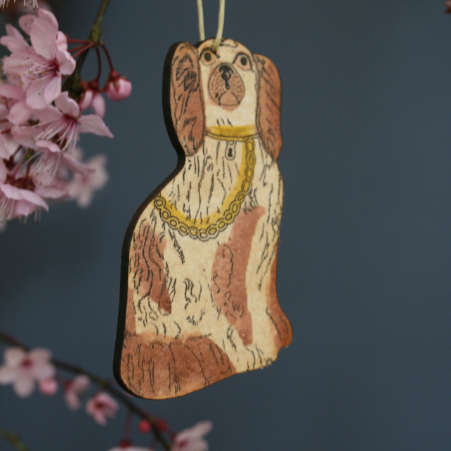 Spaniel hanging decoration