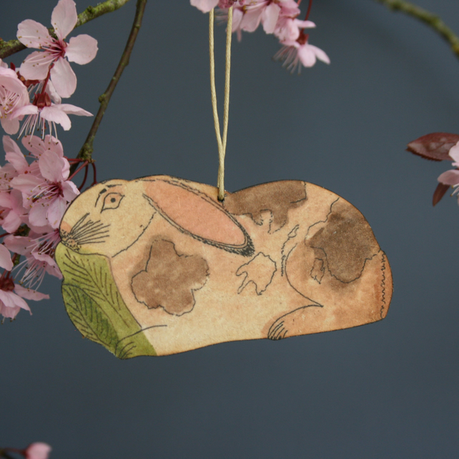 Rabbit hanging decoration