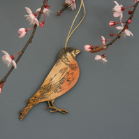Chaffinch hanging decoration