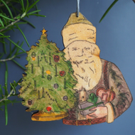 Father Christmas hanging decoration