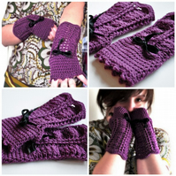 Pattern - Romantic Fingerless Gloves (pdf file)