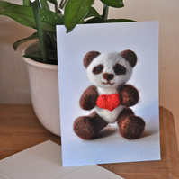 "Valentine Postcard ""Bear With My Heart"" - Limited Edition"