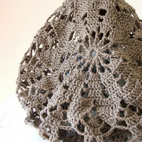 Lacy Beret with a brim - RESERVED LISTING FOR ENCHANTED OAKS