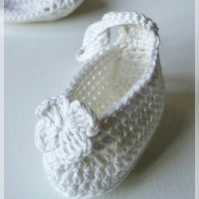 Infant Crochet Ballet Bootees - MADE TO ORDER