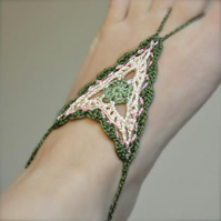 PATTERN ONLY (PDF File) - boho barefoot crochet sandals, soleless, beach, access