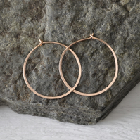 Handforged Rose Gold Filled Hoops