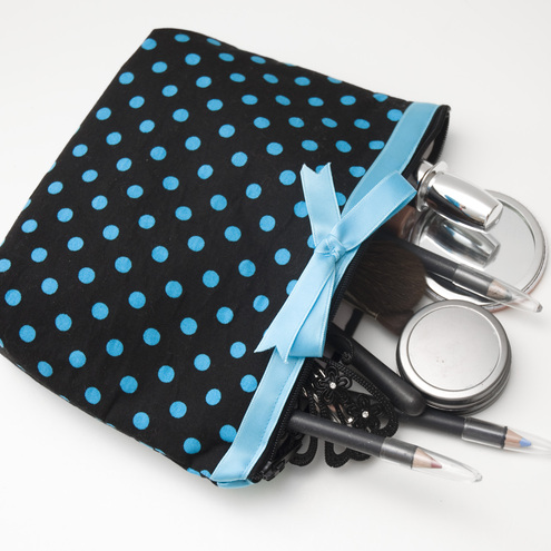 """Ribbons and bows"" make up bag by moody cow designs"