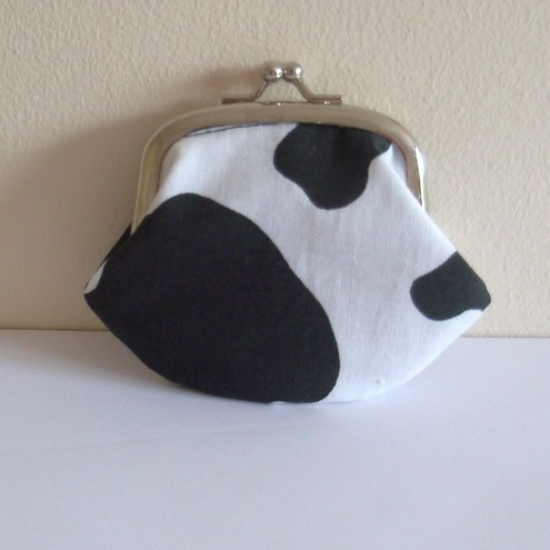 """moody cow!"" Cute little coin purse by moody cow designs"