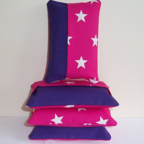 """Love............pink!"" Tissue packet holder by moody cow designs"