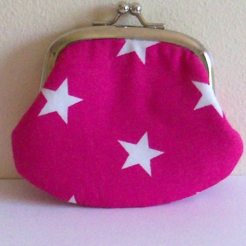 """Love Pink"" cute  little coin purse"