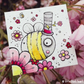 bumblebee in the cherry blossom - original twinchie