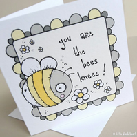 bees knees - greetings card