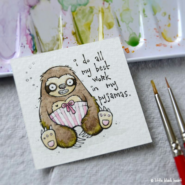 pyjama sloth - original twinchie miniature