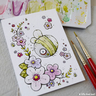 zombee bumble and blossom - original aceo
