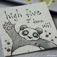high five panda - original twinchie